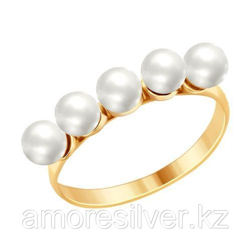 Кольцо SOKOLOV серебро с позолотой 93010733