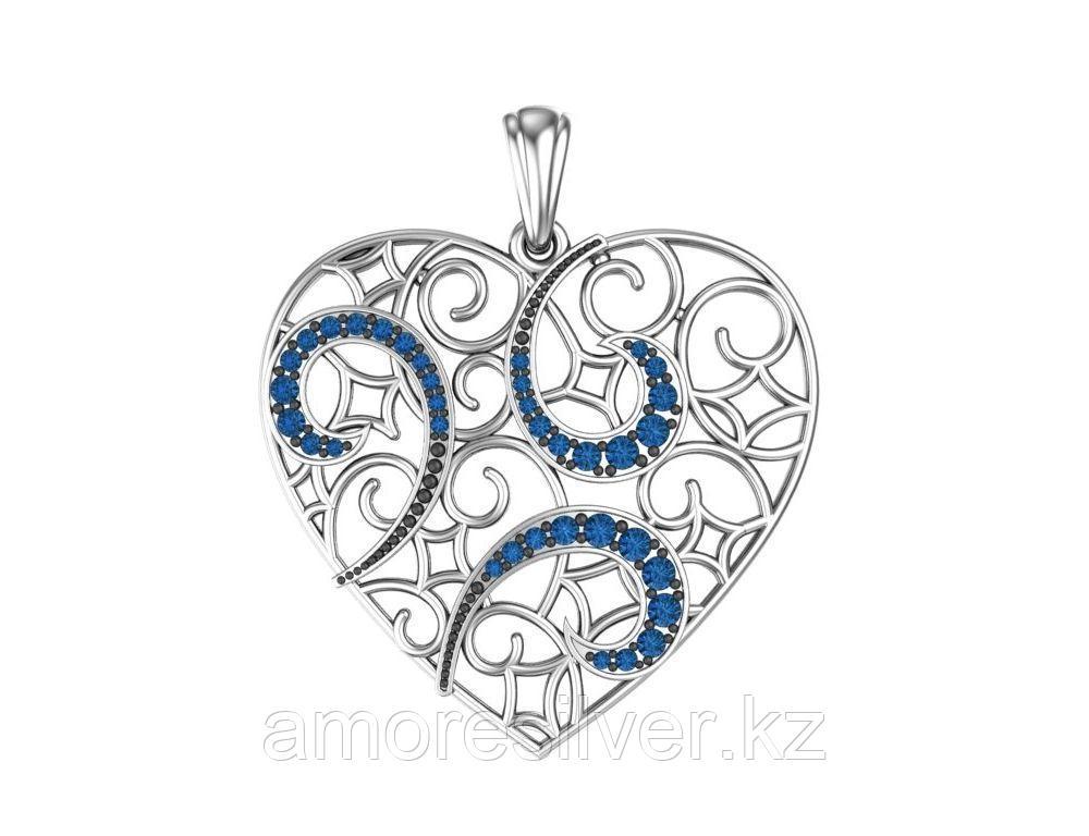 Подвеска ЗОЛОТЫЕ КУПОЛА серебро с родием, фианит, символы 0400660-00275