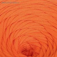 Пряжа трикотажная широкая 50м/170гр, ширина нити 7-9 мм (010 ярко-оранж.)  МИКС