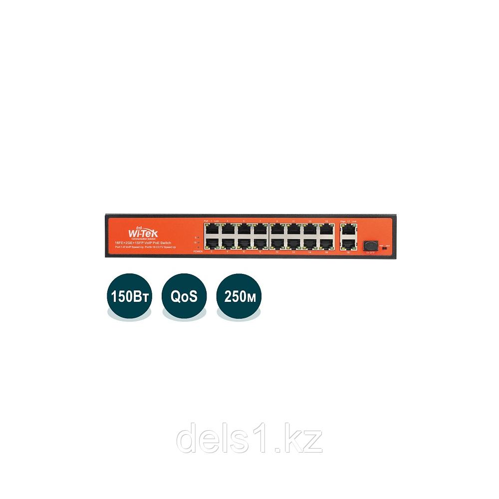 Wi-Tek WI-PS518GV Неуправляемый коммутатор с функцией PoE