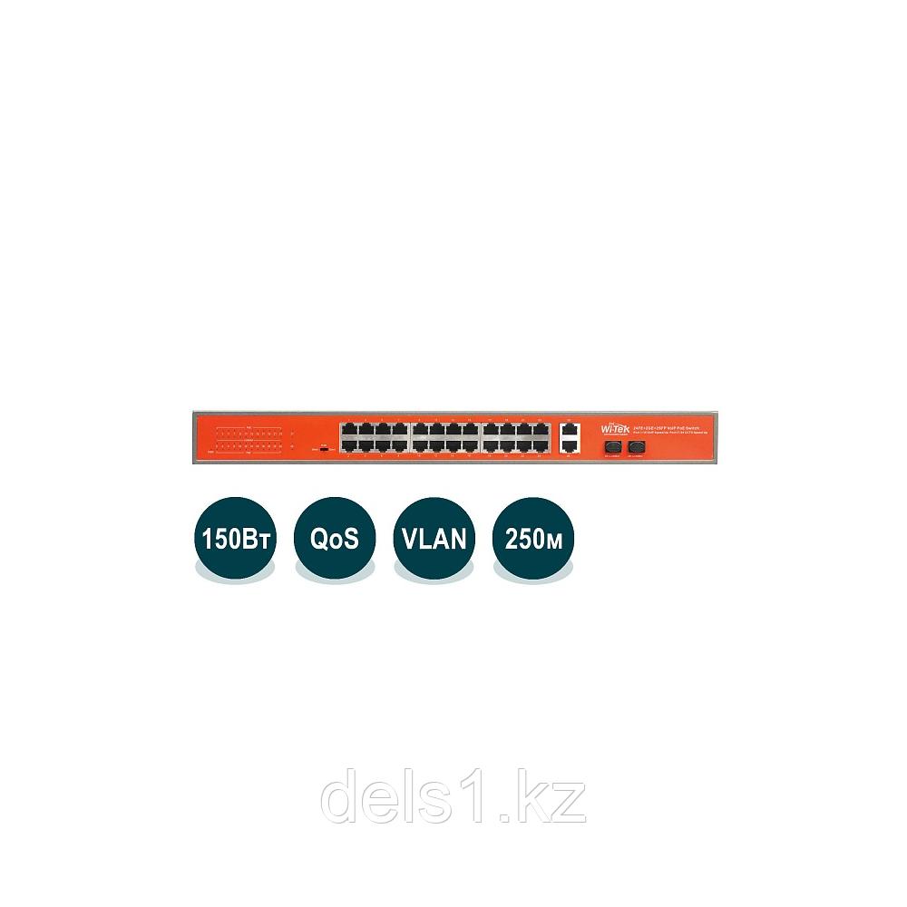 Wi-Tek WI-PS526GV Неуправляемый коммутатор с функцией PoE