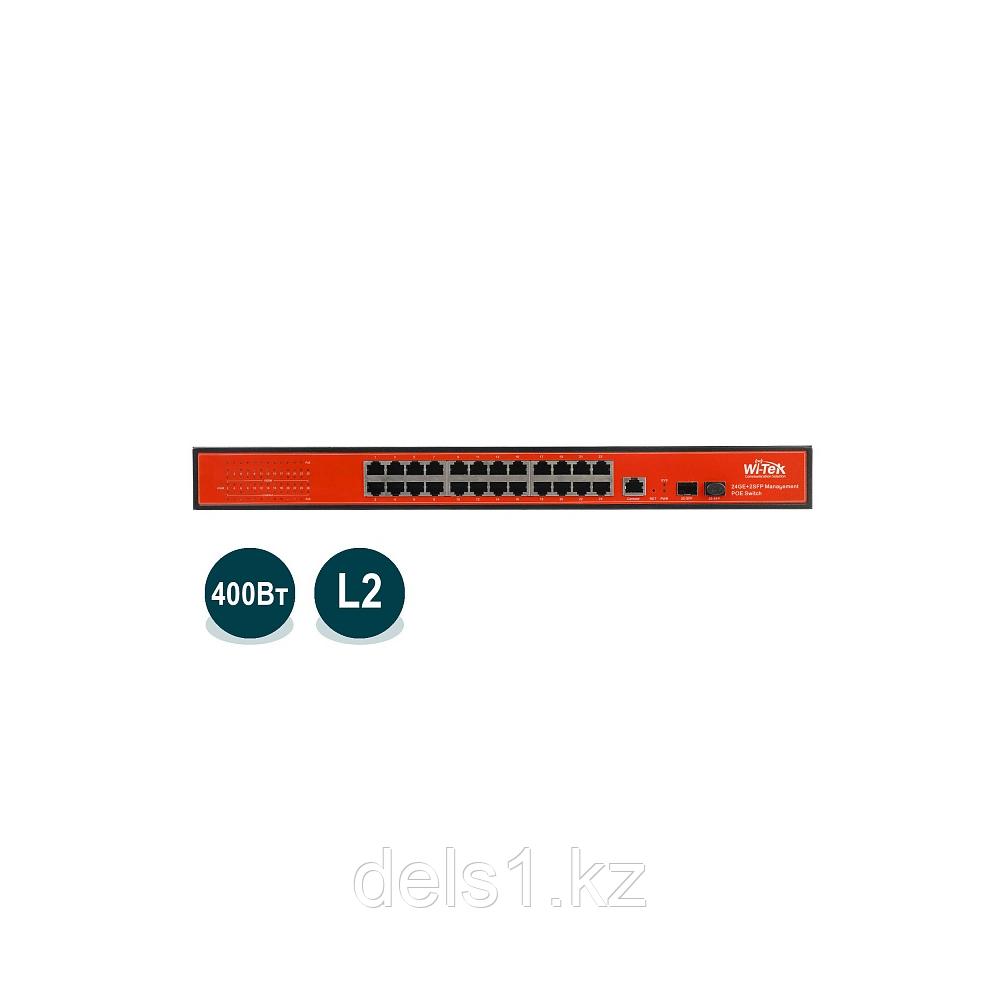 Wi-Tek WI-PMS326GF-24V Управляемый гигабитный L2 коммутатор с функцией PoE