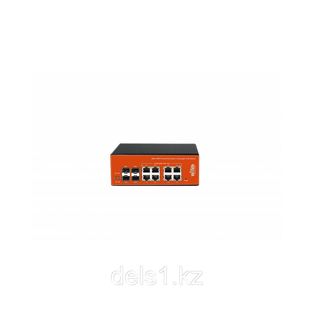 Wi-Tek WI-PMS312GF-I Управляемый промышленный коммутатор с функцией PoE