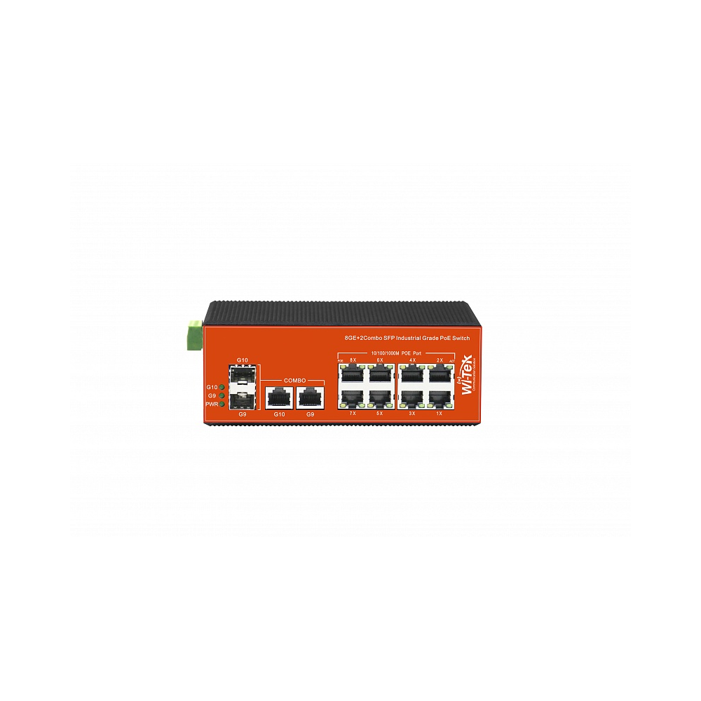 Wi-Tek WI-PMS310GF-I неуправляемый промышленный коммутатор с функцией PoE