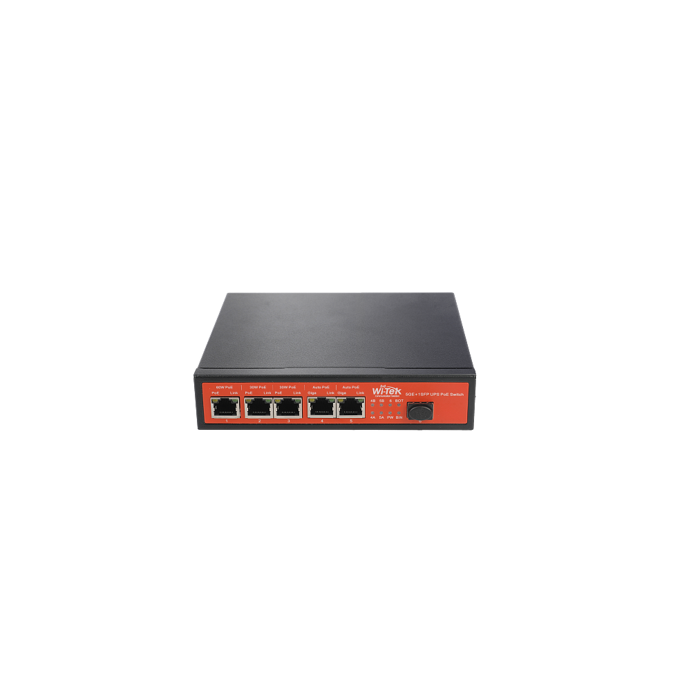 Wi-Tek WI-PS306GF-UPS неуправляемый гигабитный коммутатор с возможностью работы от UPS, солнечных батарей.