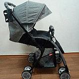 Прогулочная коляска Skillmax Перекидная ручка серый, фото 2
