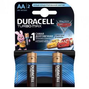 Батарейка DURACELL TurboMax AA 2шт 1.5V LR6 (пальчиковые)