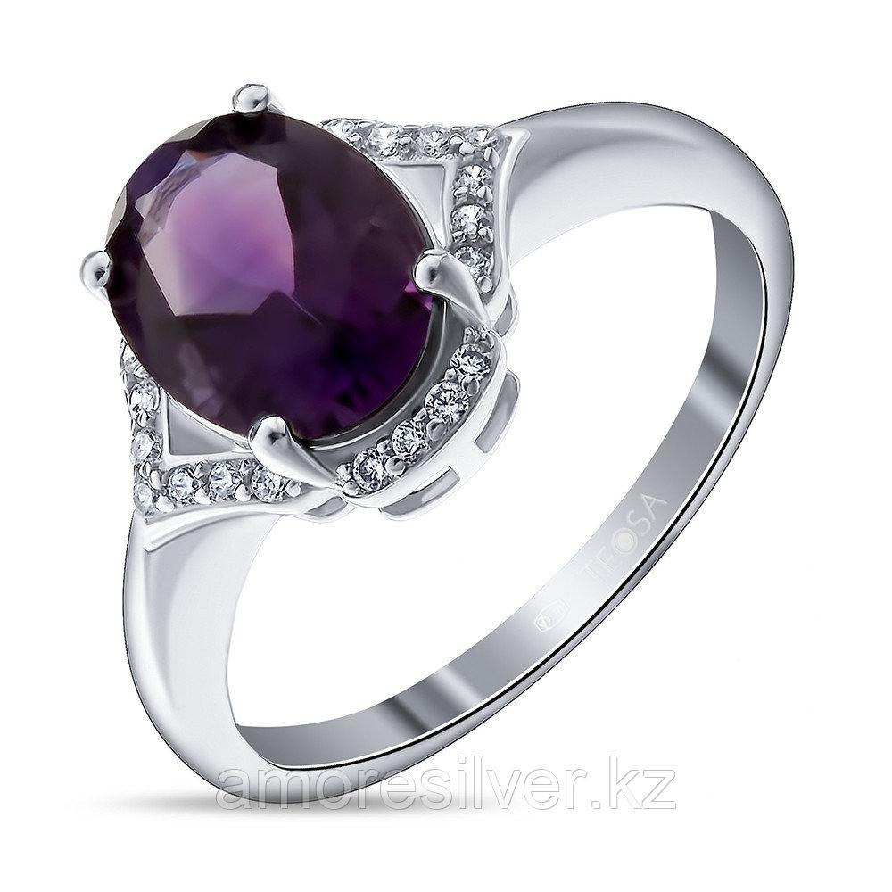 Кольцо из серебра с аметистом и фианитом   Teosa R-DRGR00625-AM
