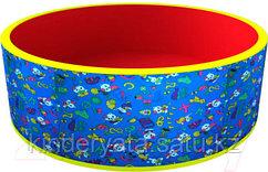 """Сухой бассейн """"Веселая поляна"""" (150 шаров) - синий/красный"""