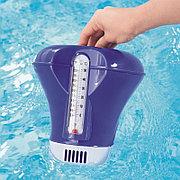 Поплавок-дозатор хлора для бассейна с термометром (синий), Bestway 58209