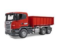 """Bruder Самосвал-контейнеровоз Scania (подходит модуль со звуком и светом """"H"""")"""
