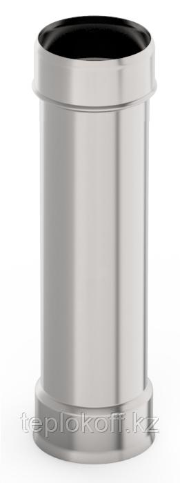 Труба ф 140, 0,5м, нержавейка, 1,0мм