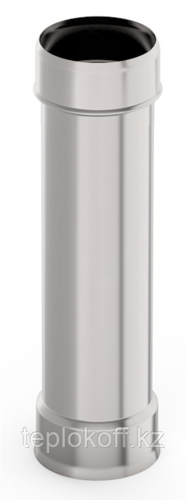 Труба ф 130, 0,5м, нержавейка, 0,5мм