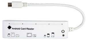 Кард-ридер PowerPlant 5-ти слотный Android Micro USB