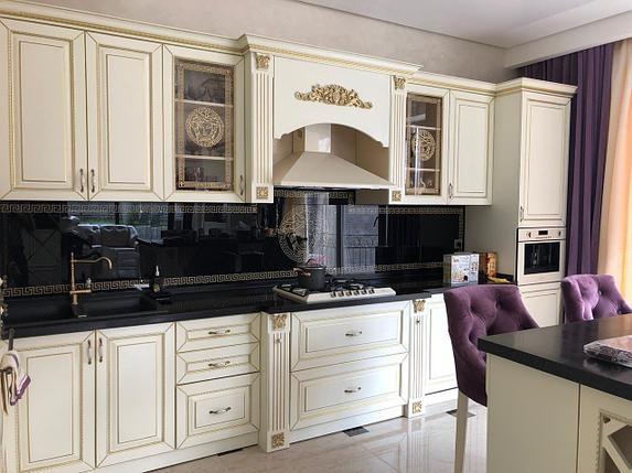 Кухонный гарнитур мдф крашенный со столешницей из искусственного камня, фото 2
