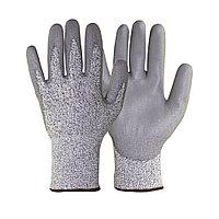 Перчатки с полиуретановым покрытием 5 степень защ. размер 10 сер.
