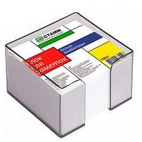 Блок для записей СТАММ белый в подставке 8х8х5 см
