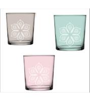 Стеклянные цветные бокалы. Цвета ассорти.