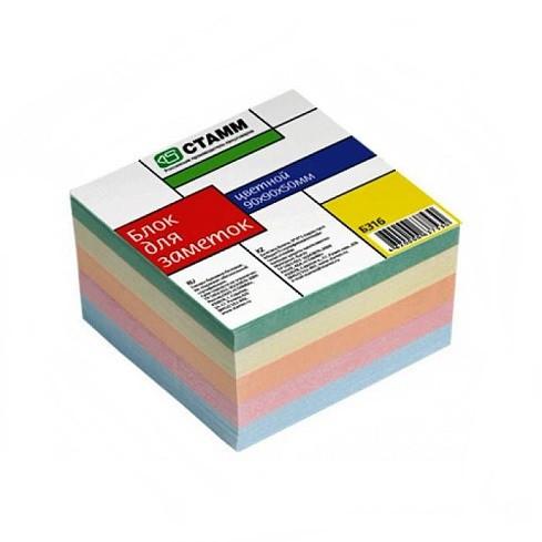 Блок для записей СТАММ цветной 9х9х5 см
