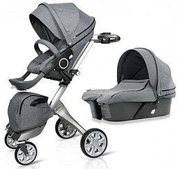 Детская коляска 2 в 1 DSLAND V6 GREY JEANS