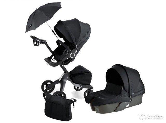 Детская коляска 2 в 1 DSLAND V4 BLACK
