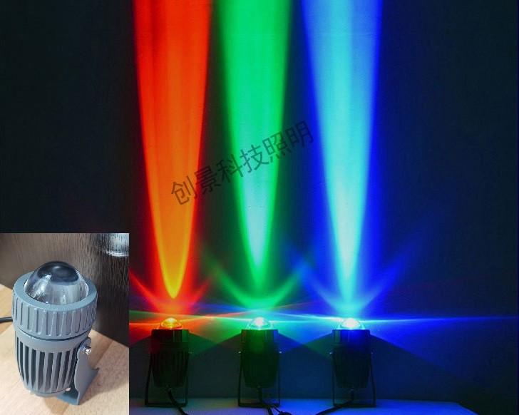 """LED светильник """"ЛУЧ"""" 10Вт, всех цветов! Светодиодный архитектурный, фасадный прожектор Луч (линза), 50 метров."""
