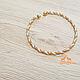 Медный браслет, браслет из меди и латуни (детский/подростковый), 1шт, фото 4