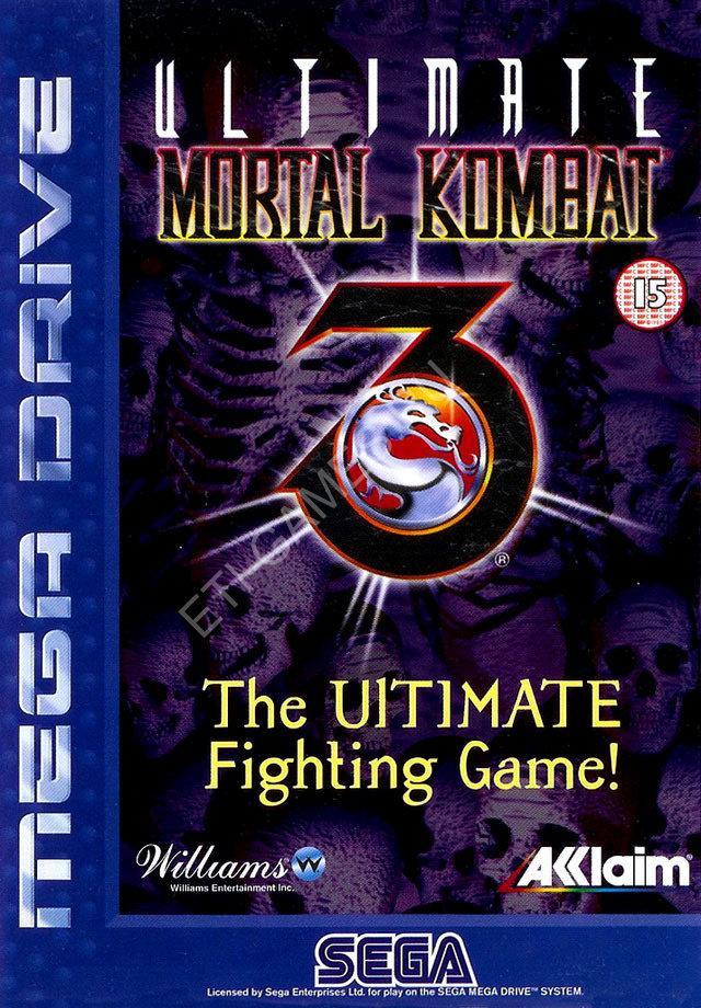 """Игра для Sega """"ULTIMATE MORTAL KOMBAT 3"""""""