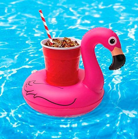 Подставка-круг надувная для напитков «Фламинго»