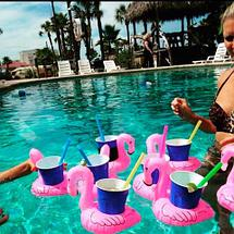 Подставка-круг надувная для напитков «Фламинго», фото 3