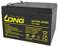 Тяговый аккумулятор LONG WP15-12SE (12В, 15Ач) (аналог 6-DZM-12), фото 1
