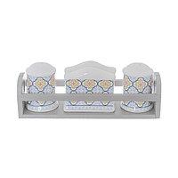 Керамический набор из солонки, перечницы и салфетницы «ARABESCO» на подставке