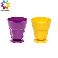 Пластиковый цветной стакан. Цвета в ассортименте.