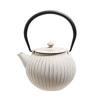 Чугунный чайник 1,1 л. Белый.