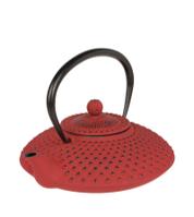 Чугунный чайник 1,25 л. Красный.