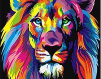 """Картина по номерам """"Радужный лев"""", 40х50 см"""