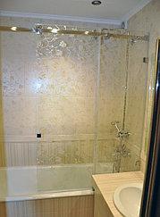 стеклянная Перегородка на ванну с раздвижными дверьми