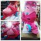 Ролики детские раздвижные 32-35 розовые, фото 5