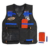 NERF Жилет Агента с 12 стрелами и 2-мя обоймами, фото 1