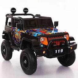 Электромобиль детский джип с надувными колесами JEEP BLF-119