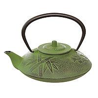 Зеленый чугунный чайник «BAMBOO»