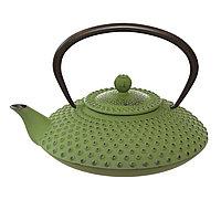 Зеленый чугунный чайник.