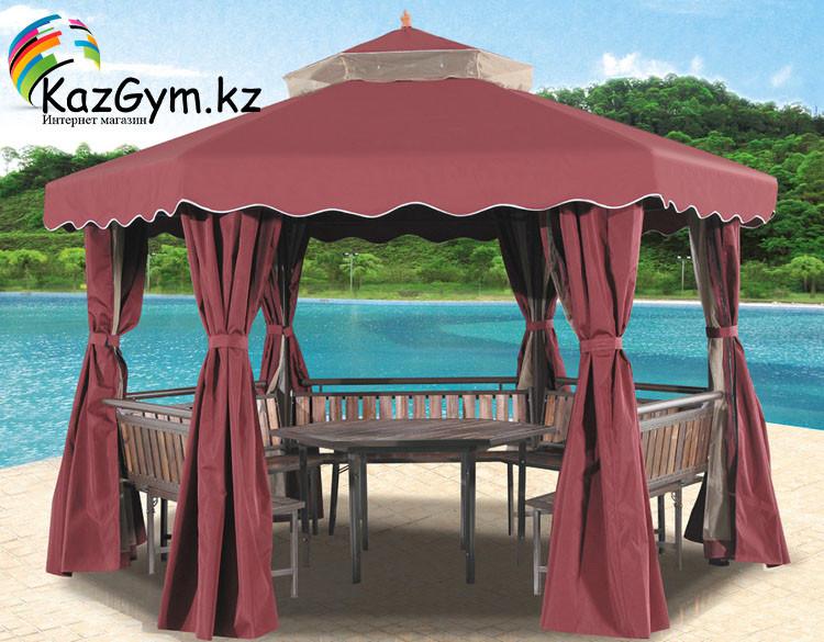 Беседка-шатер шестиугольная со столиком