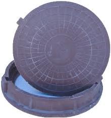 Люк ГТС полимерно-песчаный 630 ТИП «С» (с доп. крышкой)