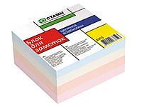 Блок для записей СТАММ цветной пастельный тон 8х8х8 см