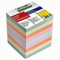 Блок для записей СТАММ цветной пастельный тон 9х9х9 см