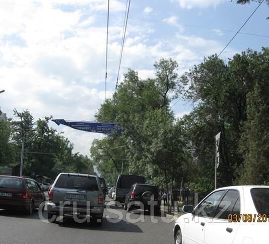 По пр. Сейфуллина - между ул. Богенбай батыра и ул. Кабанбай батыра