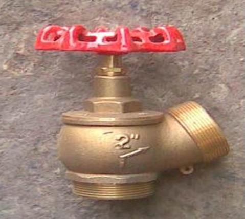 Клапан запорный угловой (пожарный) 1Б3р
