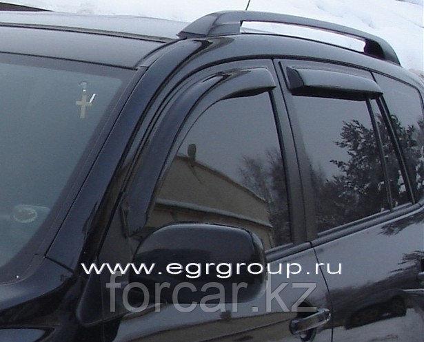Дефлекторы боковых окон EGR  4 части темные RAV 4 2013-
