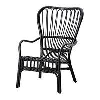 Кресло СТУРСЕЛЕ черный, ротанг ИКЕА, IKEA  , фото 1